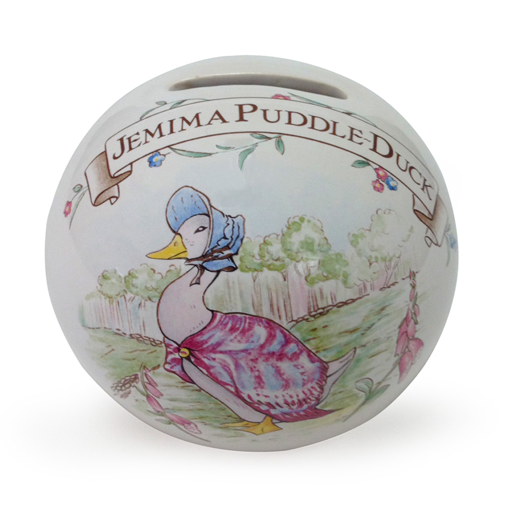 Beatrix Potter Jemima Puddle-Duck - Money Ball - Beatrix Potter Figurine