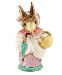 Mrs. Rabbit with gold tipped umbrella - Large Size - Beatrix Potter Figurine