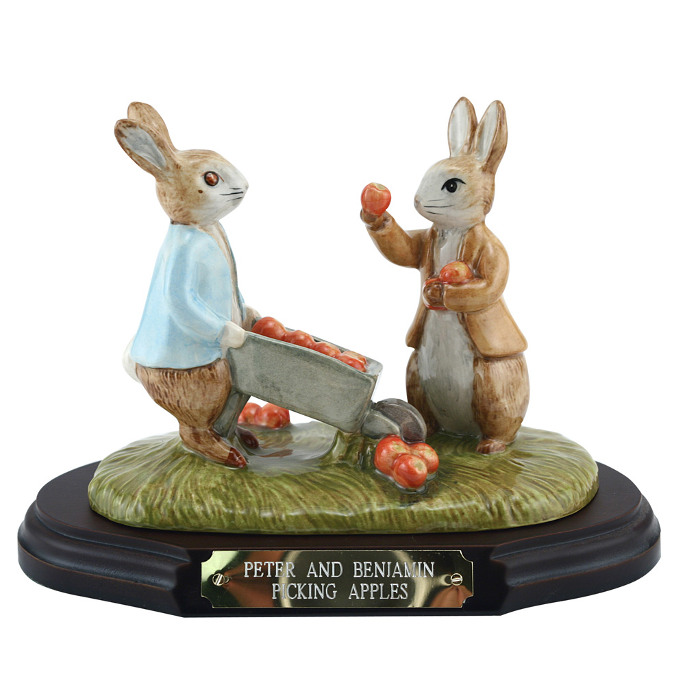 Peter & Benjamin Picking Apple - Beatrix Potter Figure