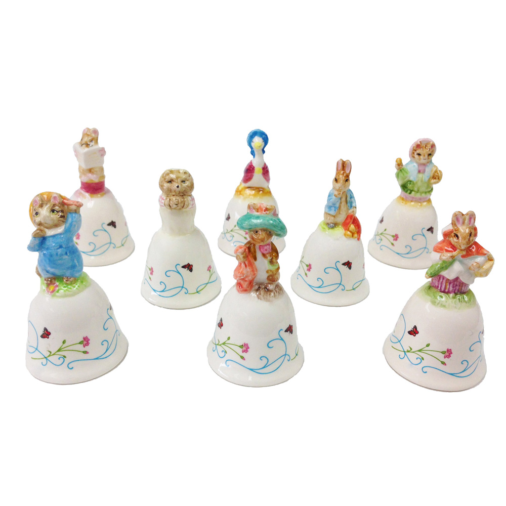 Set of 8 Miniature Bells - Beatrix Potter