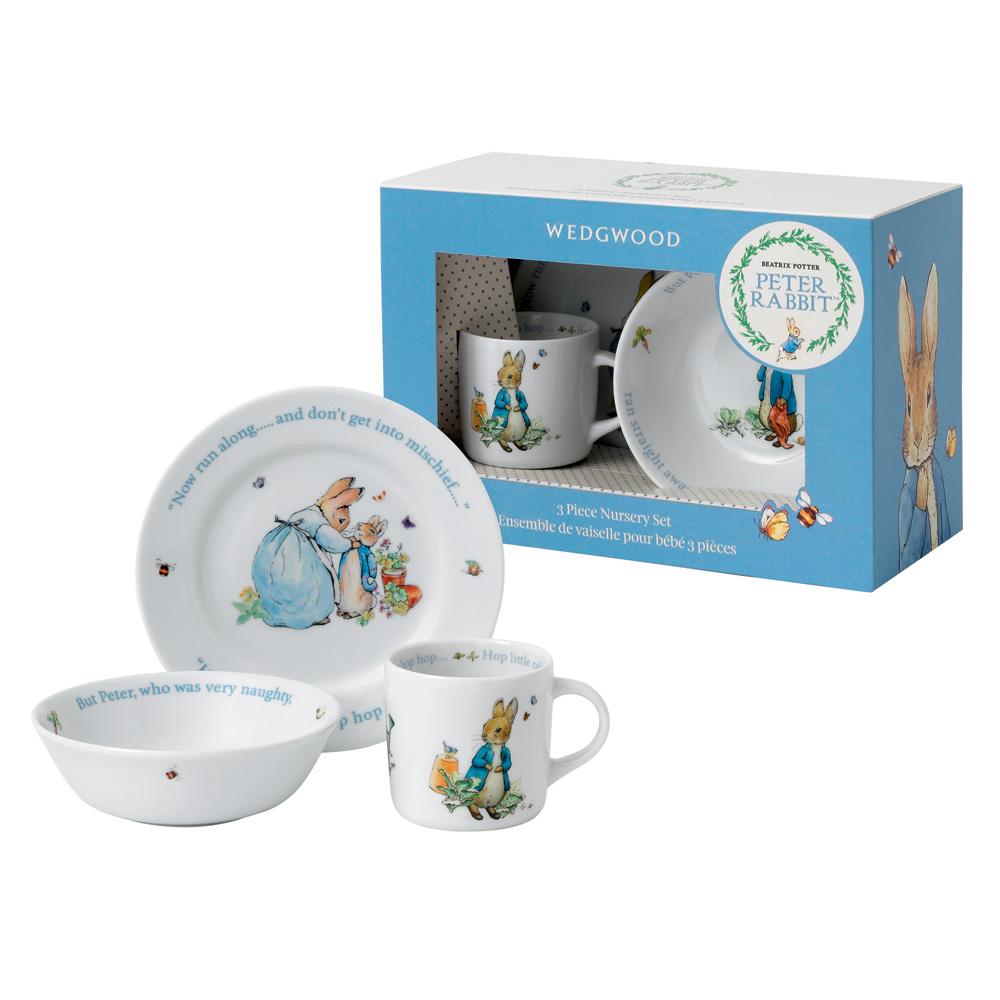 Wedgwood Peter Rabbit - 3pc Set - Beatrix Potter Nursery Set