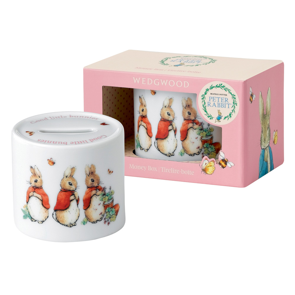 Wedgwood Flopsy, Mopsy & Cottontail Money Box - Beatrix Potter Nursery Set