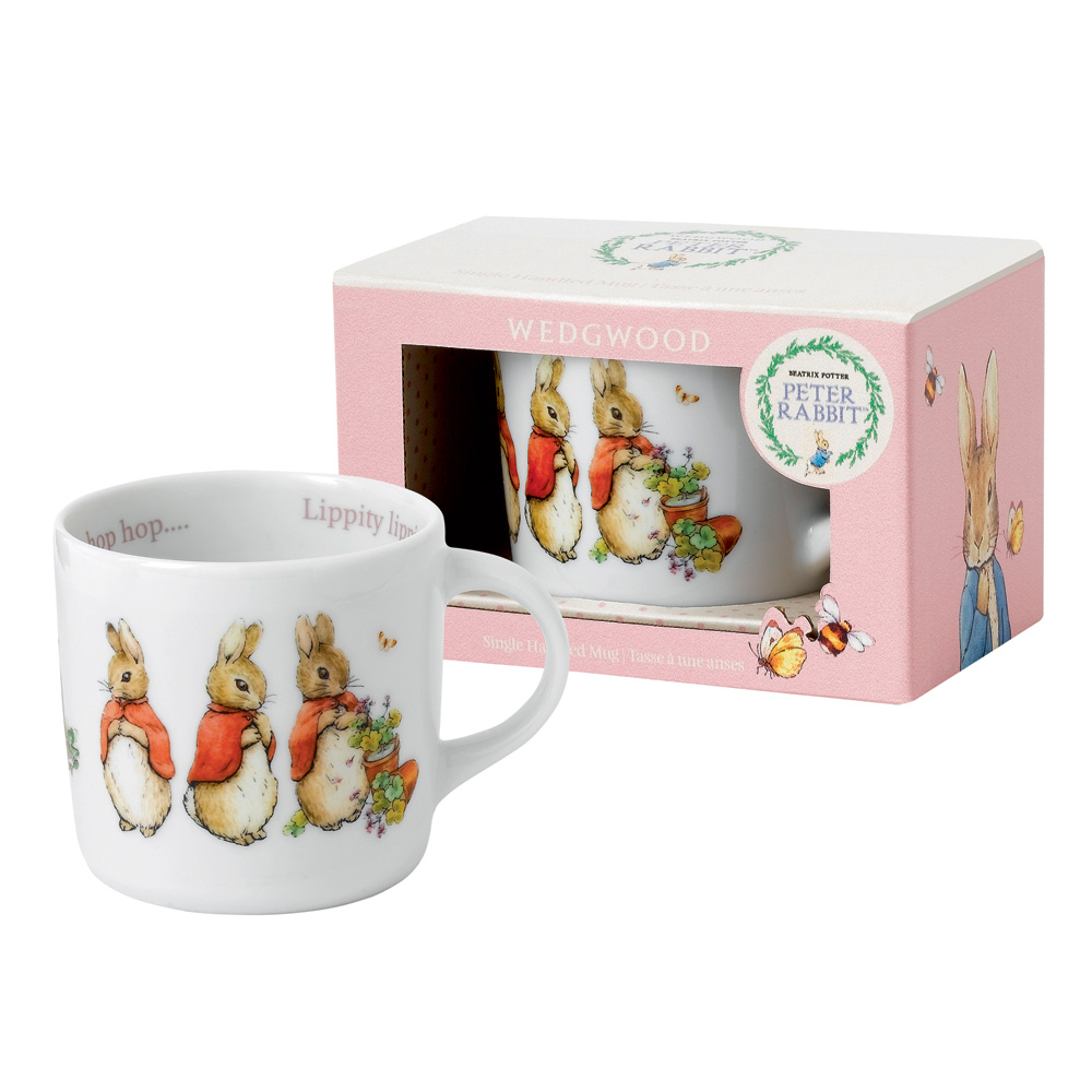 Wedgwood Flopsy, Mopsy & Cottontail Mug - Beatrix Potter Nursery Set