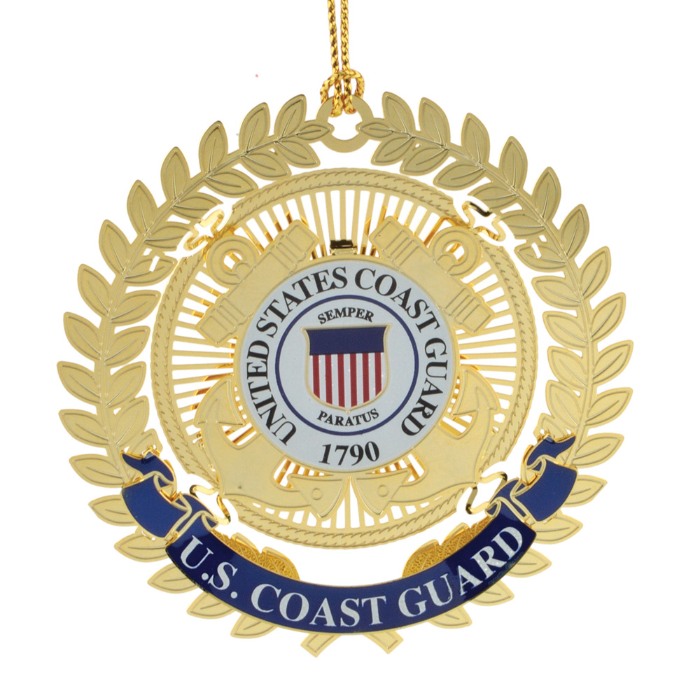 US Coast Guard Logo Ornament - White House Historical Association - Keepsake Ornaments