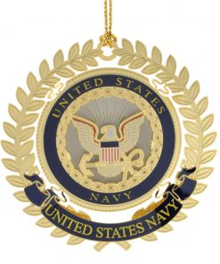 US Navy Logo Ornament - White House Historical Association - Keepsake Ornaments