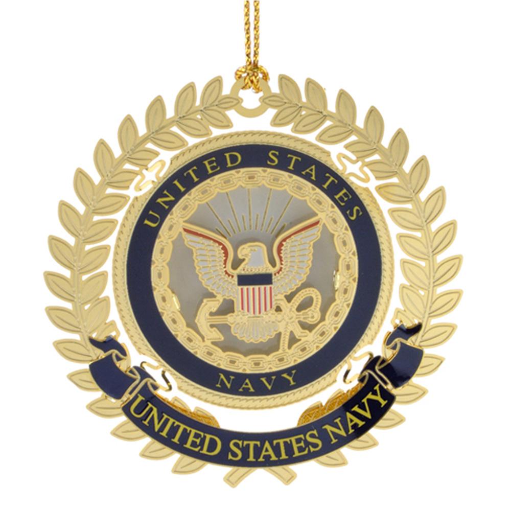 US Navy Logo Ornament - White House Historical Association - Keepsake Ornaments