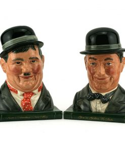 Laurel and Hardy - Bookends - Royal Doulton
