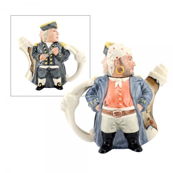 Pirate and Captain Teapot D7182 - Teapot - Royal Doulton