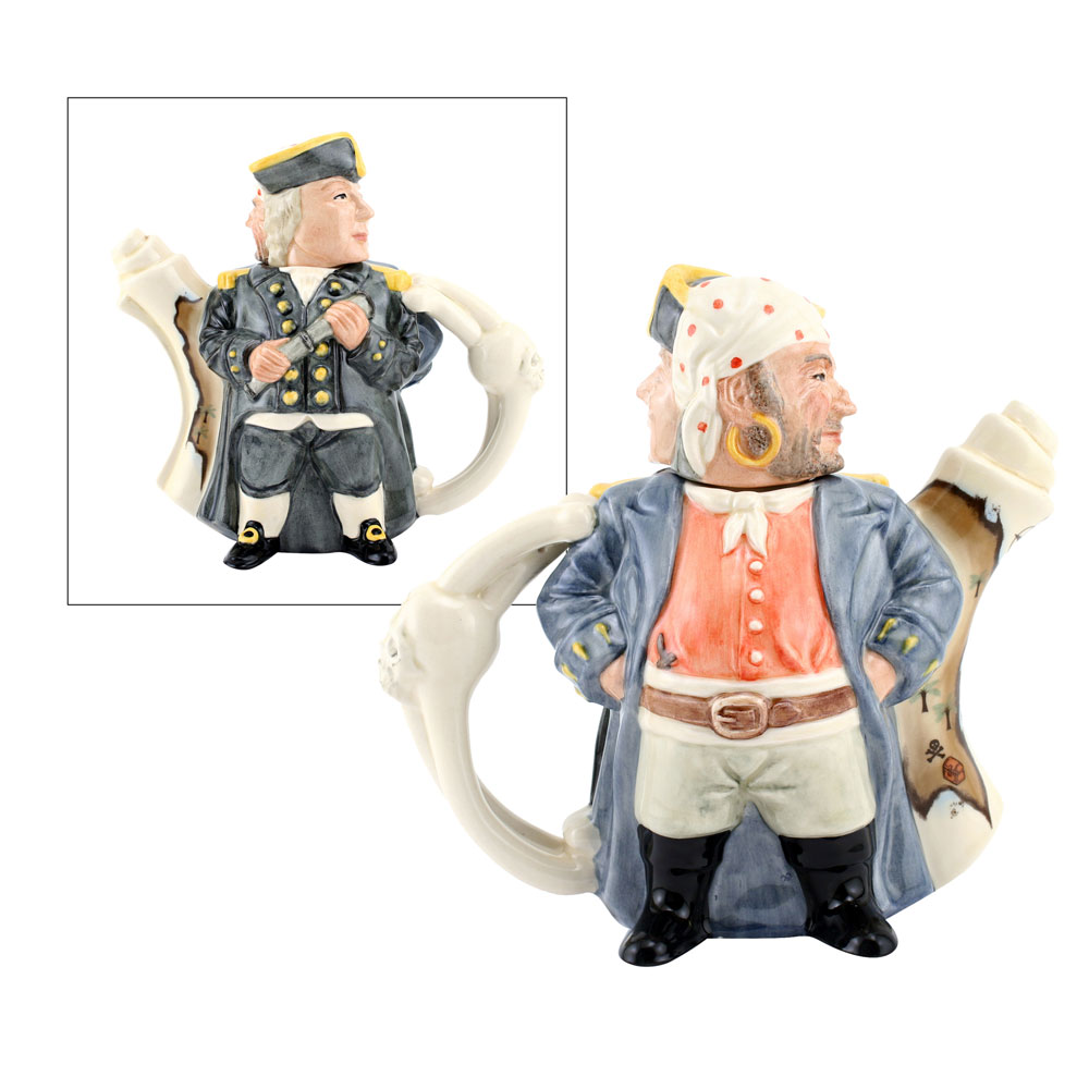 Pirate and Captain Teapot D7182 - Teapot - Royal Doulton