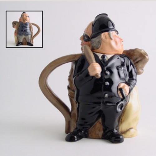 Policeman and Felon D7174 - Teapot - Royal Doulton