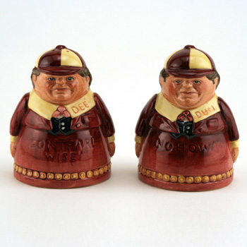 Tweedle Dee and Tweedle Dum - Salt & Pepper Shakers - Royal Doulton