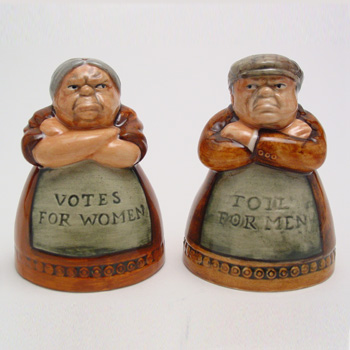 Votes and Toil - Salt & Pepper Shakers - Royal Doulton