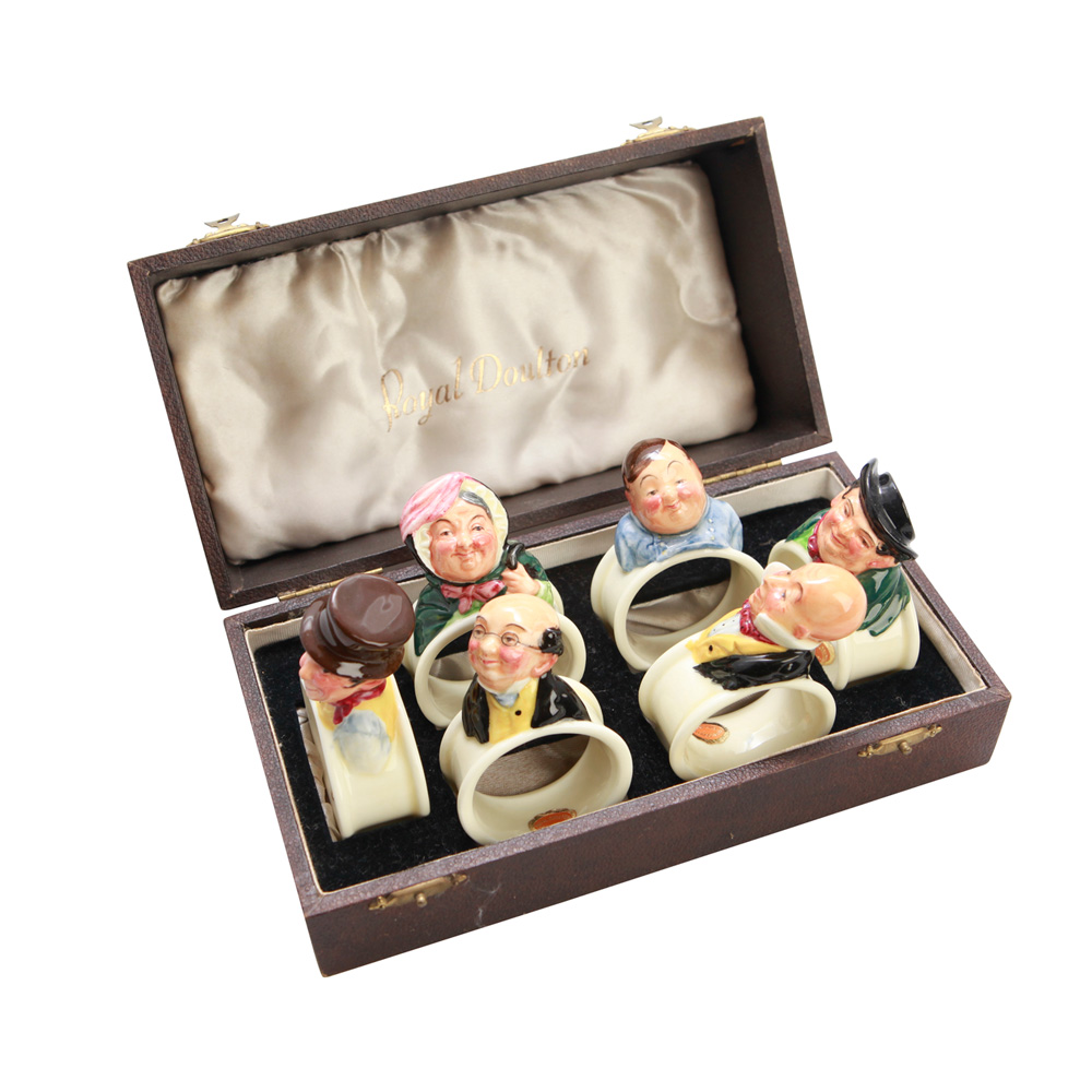 Dickens Napkin Rings Set of 6 - Royal Doulton Dickens