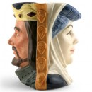 King Arthur and Guinevere D6836 - Large - Royal Doulton Character Jug