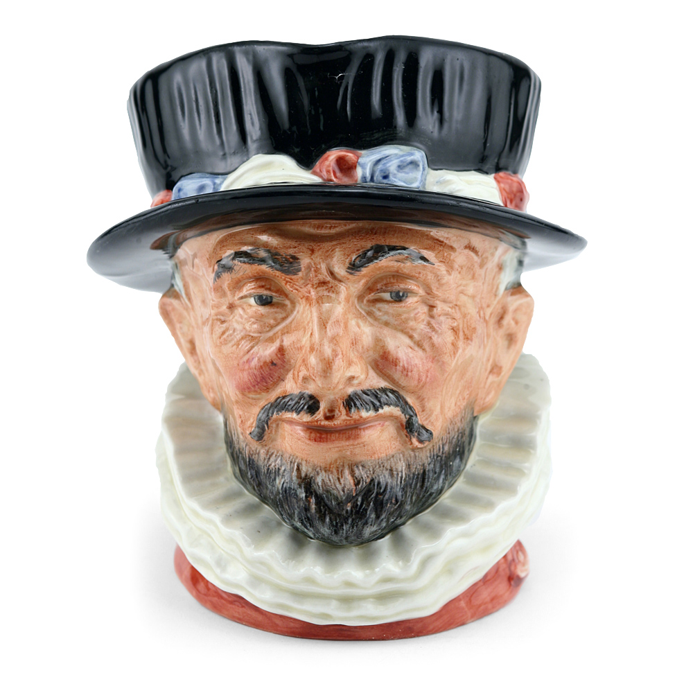 Beefeater ER D6206 (Bone China) - Large - Royal Doulton Character Jug