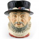 Beefeater (GR - Yellow Highlights) - Large - Royal Doulton Character Jug
