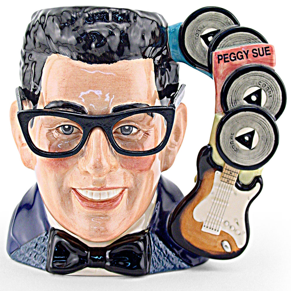 Buddy Holly D7100 - Large - Royal Doulton Character Jug