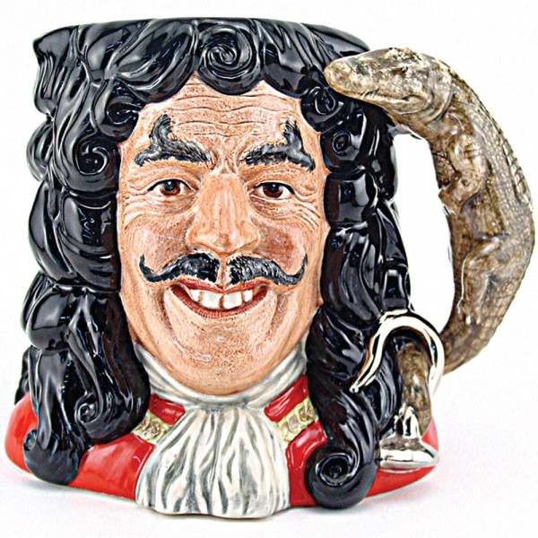Capt Hook New D6947 - Large - Royal Doulton Character Jug