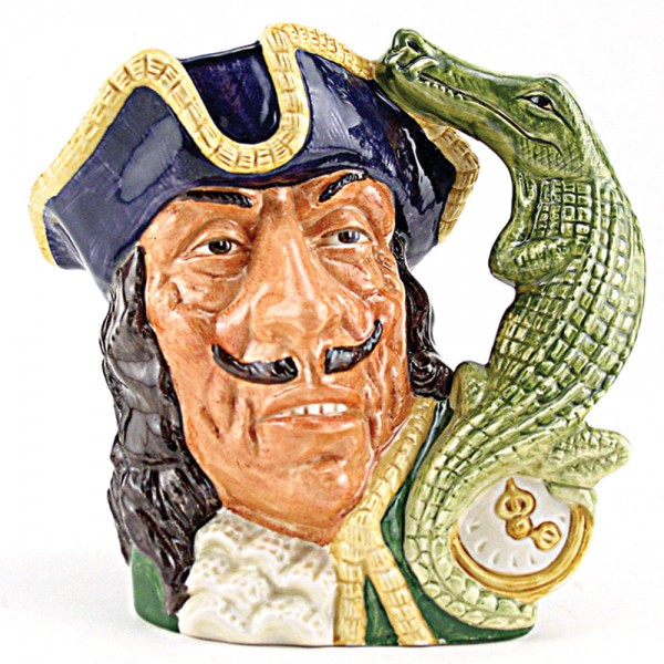 Capt Hook Old D6597 - Large - Royal Doulton Character Jug