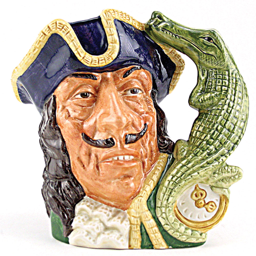 Capt Hook Old D6597 - Large - Royal Doulton Character Jug