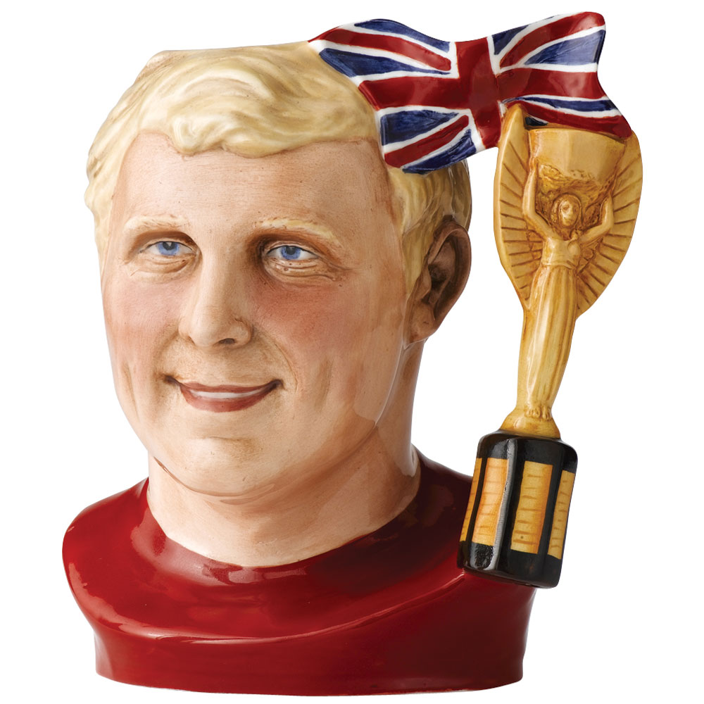 The Captain Bobby Moore D7261 - Large - Royal Doulton Character Jug