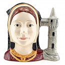 Catherine Aragon D6643 - Large - Royal Doulton Character Jug