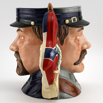 Civil War Double-Sided D7266 - Large - Royal Doulton Character Jug