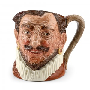 Drake Hatless D6115 (Red) - Large - Royal Doulton Character Jug
