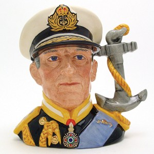 Earl Mountbatten D6944 - Large - Royal Doulton Character Jug