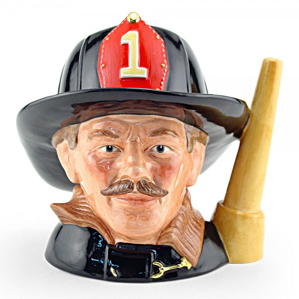 Fireman (Fire Hose Handle) - Large - Royal Doulton Character Jug