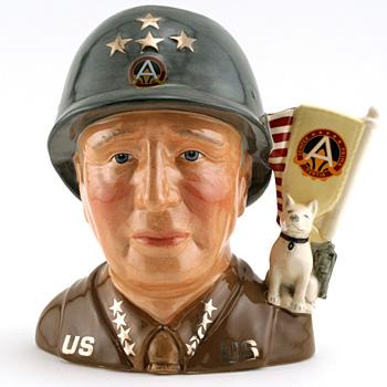 General Patton D7026 - Large - Royal Doulton Character Jug