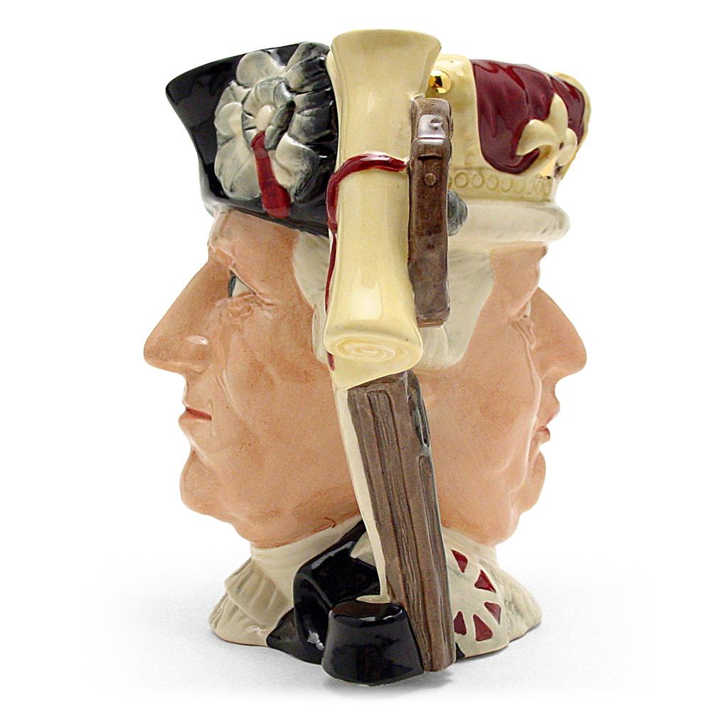 George III & George Washington D6749 - Large - Royal Doulton Character Jug