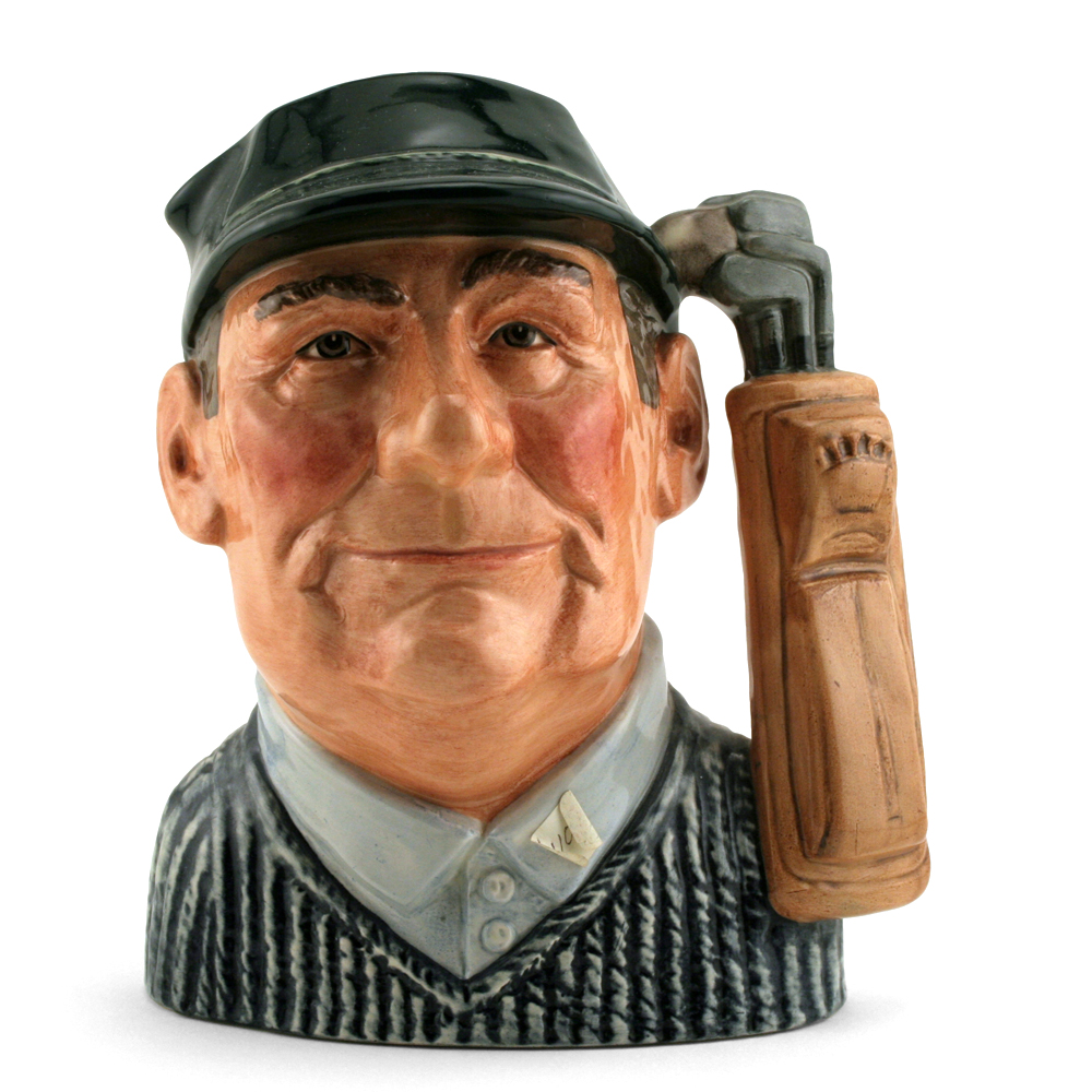 Golfer D6784 (Colorway) - Large - Royal Doulton Character Jug