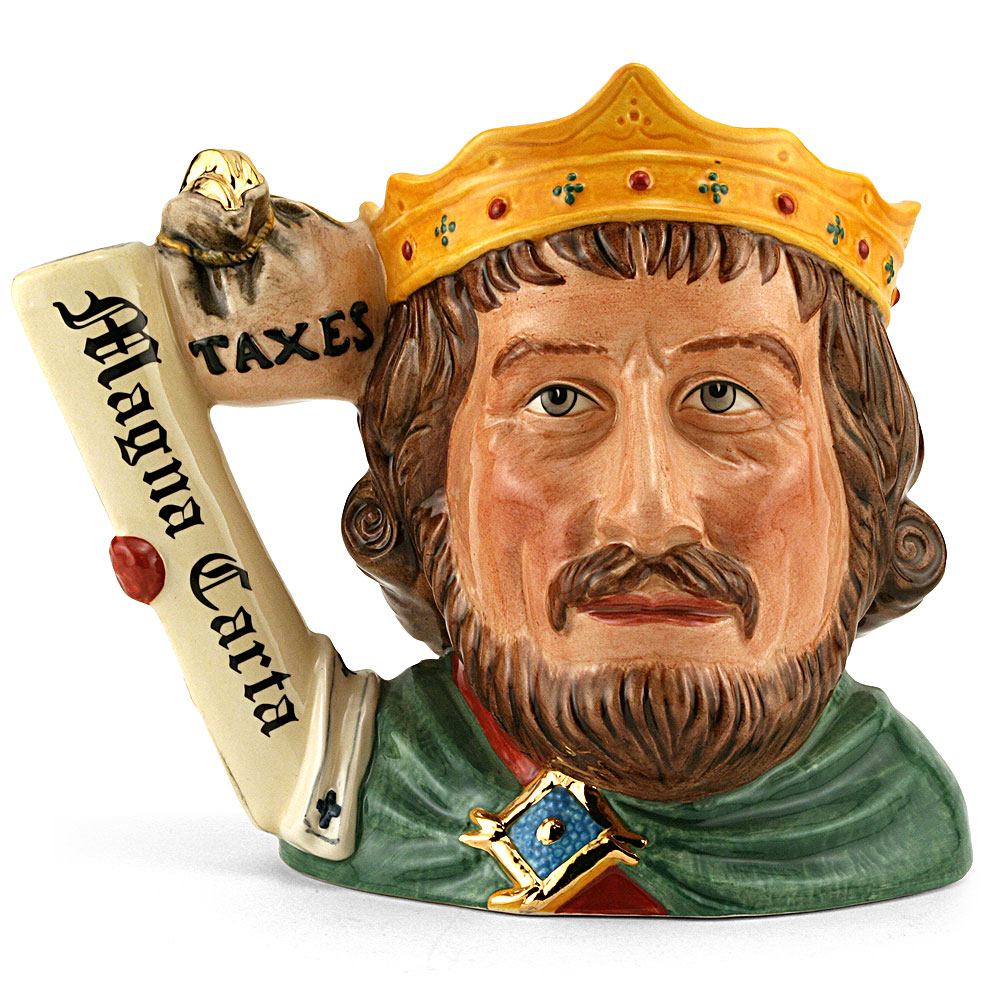 King John D7125 - Large - Royal Doulton Character Jug