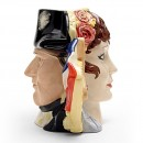 Napoleon and Josephine D6750 (Doublefaced) - Large - Royal Doulton Character Jug