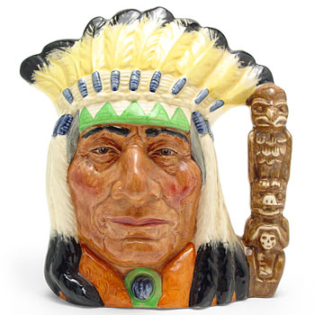 North American Indian D6786 (Colorway) - Large - Royal Doulton Character Jug