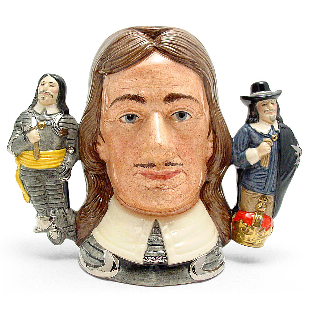 Oliver Cromwell D6968 (Two handled Jug) - Large - Royal Doulton Character Jug
