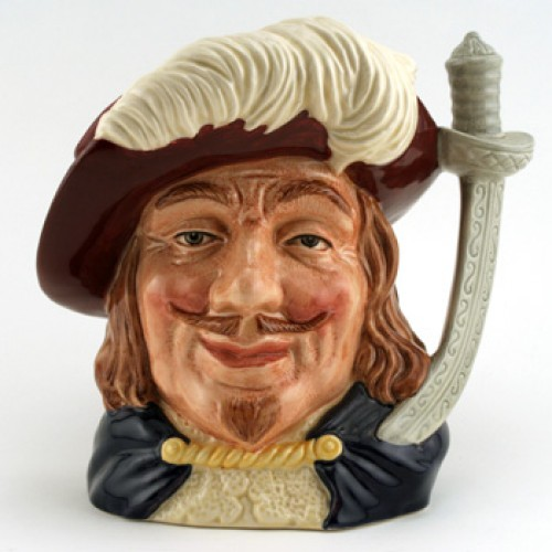 Porthos D6828 (Colorway) - Large - Royal Doulton Character Jug