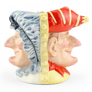 Punch and Judy D6946 (Double-Faced) - Large - Royal Doulton Character Jug