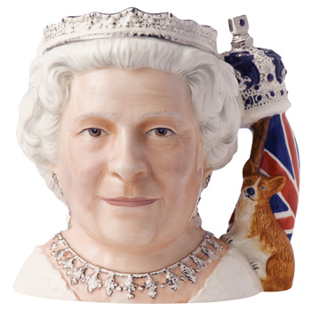 Queen Elizabeth II D7256 (Jug of the Year 2006) - Large - Royal Doulton Character Jug