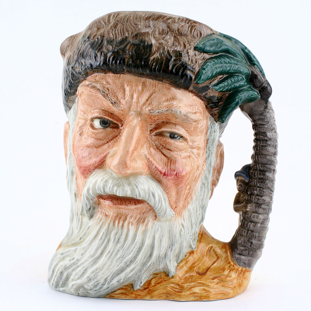 Robinson Crusoe with FP BCD6532 - Royal Doulton Character Jug