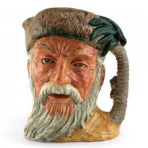 Robinson Crusoe D6532 (with Footprint) - Large - Royal Doulton Character Jug