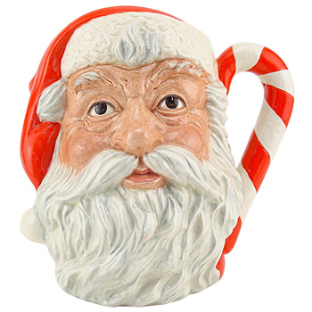Santa Claus D6793 (Candy Cane Handle) - Large - Royal Doulton Character Jug