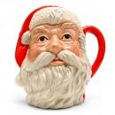 Santa Claus Plain Handle D6704 - Large - Royal Doulton Character Jug
