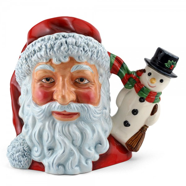 Santa with Snowman D7238 - Large - Royal Doulton Character Jug