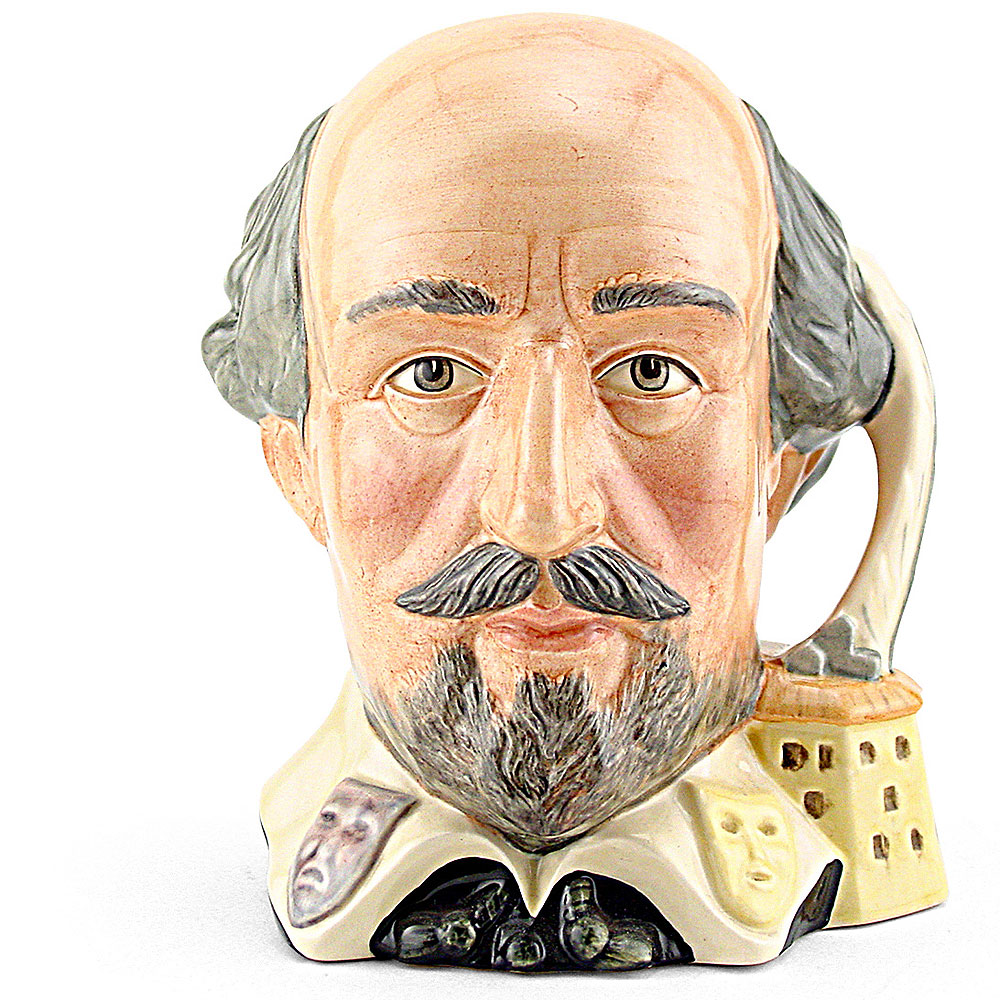 Shakespeare (Inkwell Handle) D6689 - Large - Royal Doulton Character Jug