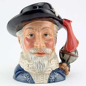Sir Walter Raleigh D7169 - Large - Royal Doulton Character Jug