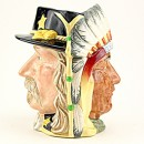 Chief Sitting Bull (Brown Eyes) and George Armstrong Custer D6712 - Large - Royal Doulton Character Jug