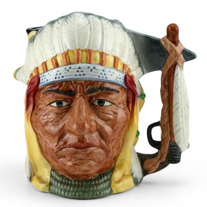 Chief Sitting Bull (Grey Eyes) and George Armstrong Custer D6712 - Large - Royal Doulton Character Jug