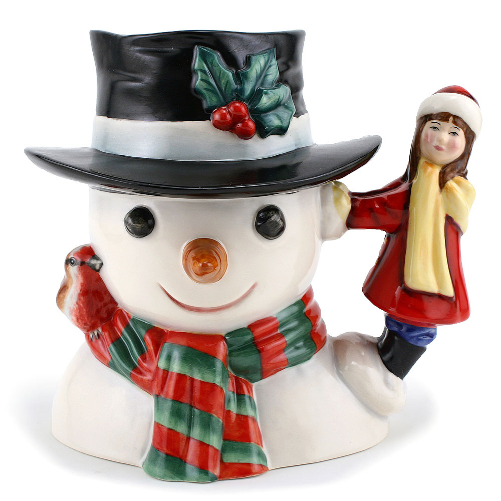 Snowman with Little Girl Handle D7241 - Royal Doulton Character Jug